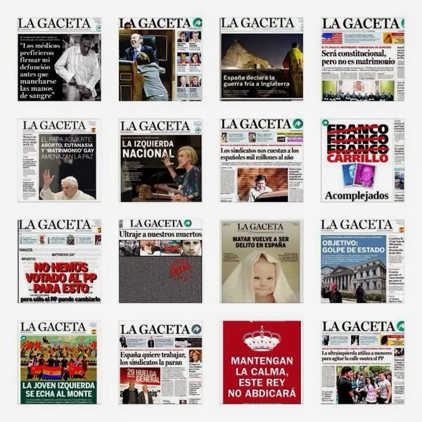 Portadas lamentables de La Gaceta, manipulación, intolerancia