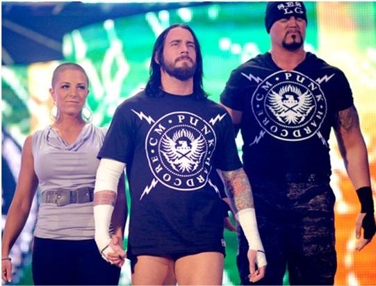 Znalezione obrazy dla zapytania Serena Deeb, CM Punk and Luke Gallows