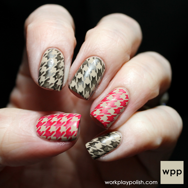 Houndstooth Stamp with Zoya Farah, Raven and Carment (work / play / polish)