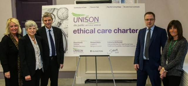 Islington signs up to UNISON Ethical Care Charter