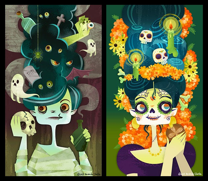 Sparkyart New Halloween Day Of The Dead Themed Wallpapers On Poolga