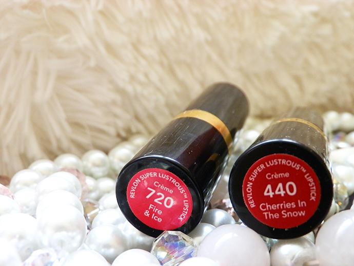 Revlon Super Lustrous Lipsticks Fire & Ice and Cherries in the Snow