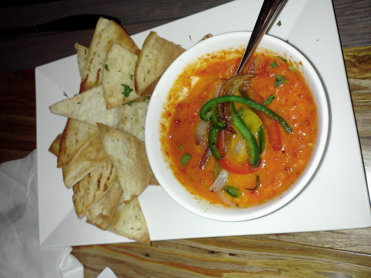 Nazca Kitchen roasted pepper dip