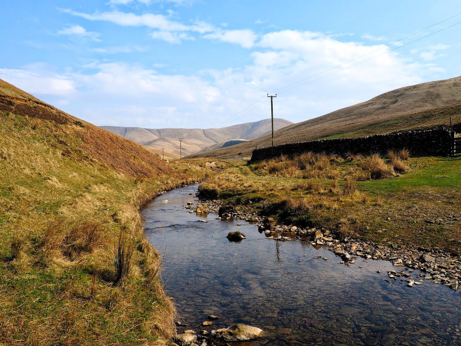 Countryside farm landscape in the Scottish Borders