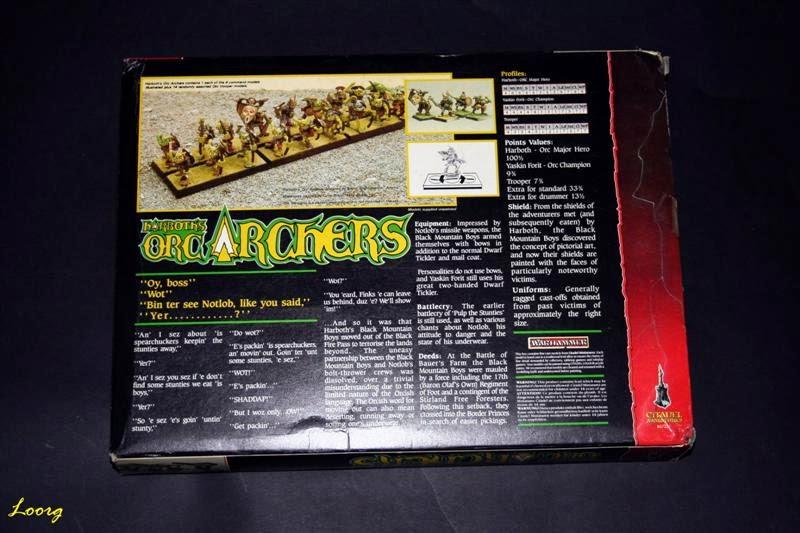 Contraportada de la caja RRD3 - Harboth's Orc Archers