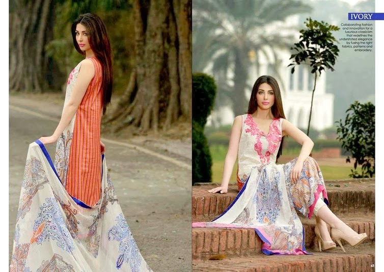 Sobia Nazir Embroidered Lawn 2014