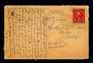 postcard vintage back image
