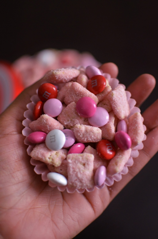 So I Decided To Make A Strawberry Puppy Chow! Plus Itu0027s Pink...one Of The  The Two Ultimate Valentineu0027s Day Color.s He Really Liked It #score.