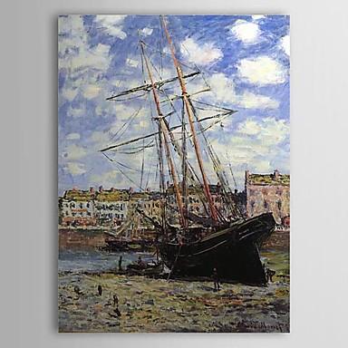 Barco en Marea Baja en Fecamp de Claude Monet