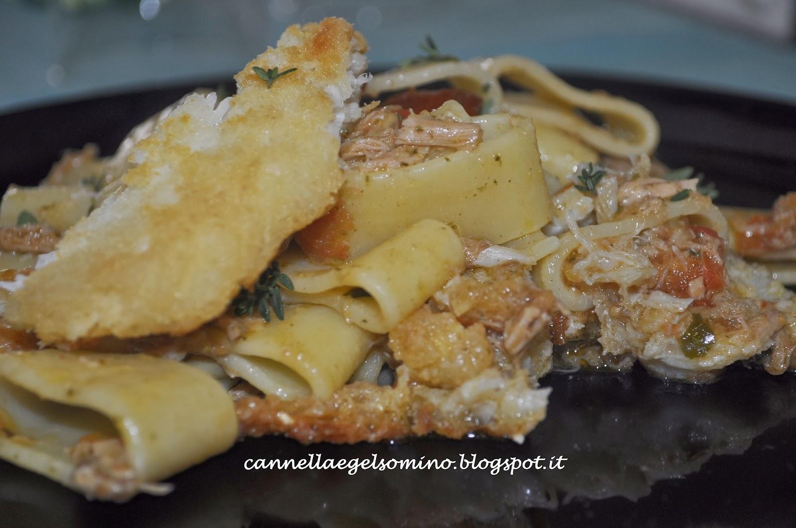 calamarata con tonno e baccalà