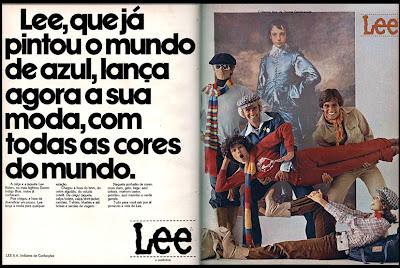 propaganda calça Lee - 1977. moda anos 70; propaganda anos 70; história da década de 70; reclames anos 70; brazil in the 70s; Oswaldo Hernandez