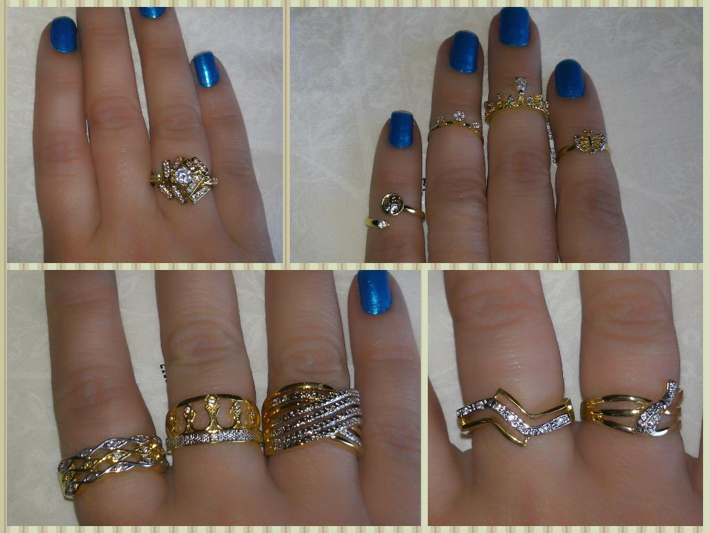 Anel, dourado e prata