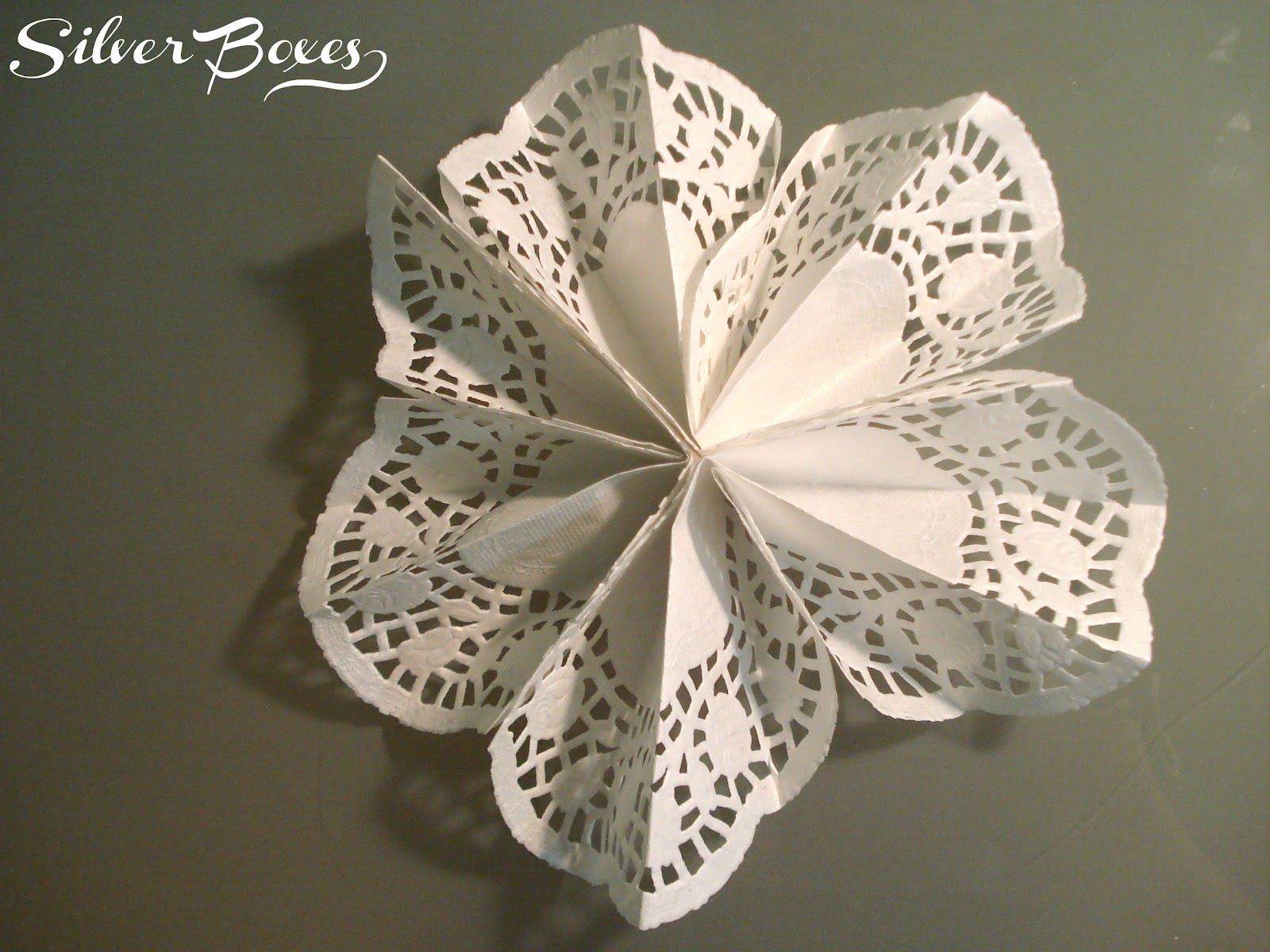 Silver Boxes Diy Doily Gift Bag