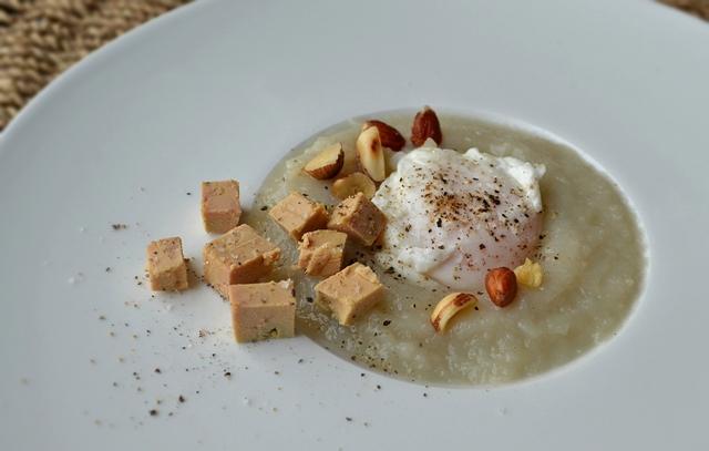 Pourquoi pas oeuf poch topinambour foie gras - Temperature cuisson foie gras ...