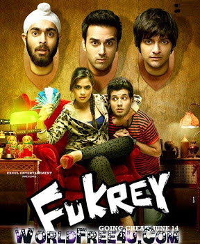 Poster Of Hindi Movie Fukrey (2013) Free Download Full New Hindi Movie Watch Online At worldfree4u.com