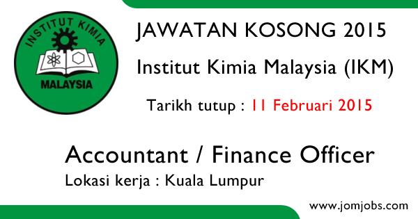Jawatan Kosong Institut Kimia Malaysia (IKM) 2015 Terkini