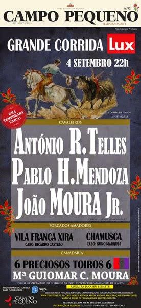 PABLO HERMOSO EN CAMPO PEQUENO (LISBOA) SEGUNDA ACTUACIÓN ESTE AÑO.
