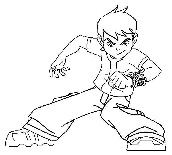 Ben 10 alien force coloring pages learn to coloring for Coloring pages of ben 10 aliens