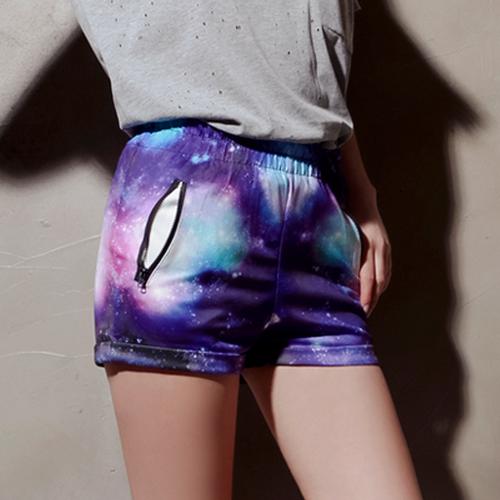 Galaxy Print Shorts