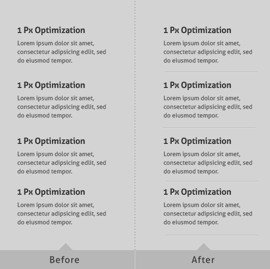 1 Pixel Optimization for Website Design