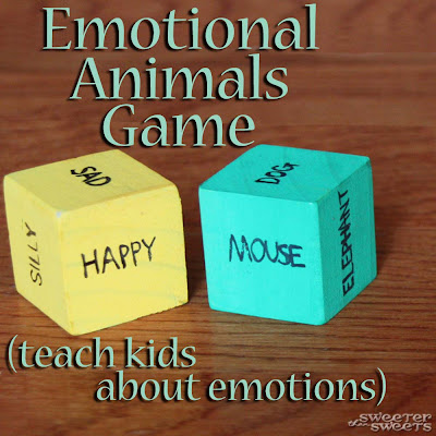 Emotional Animals Game by Tricia @ SweeterThanSweets