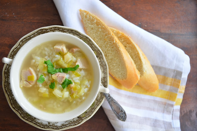 Turkey and rice soup.