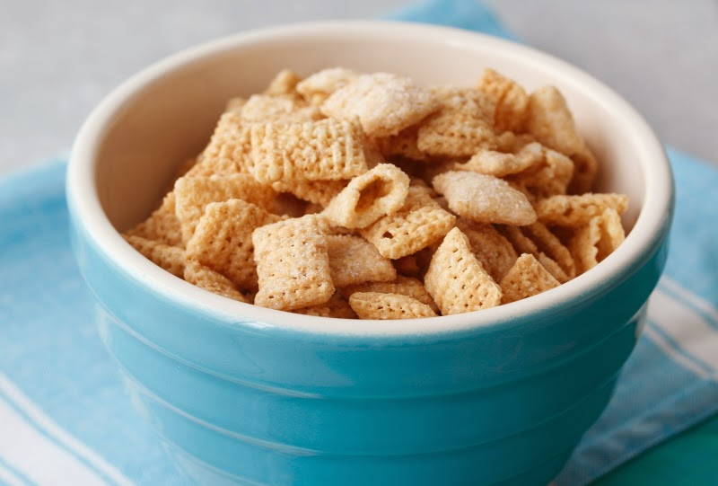Vanilla Chex Cereal With the cereal is a pesky