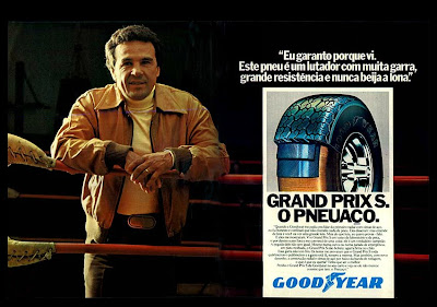 propaganda pneus Good Year com Eder Jofre - 1979.  propaganda de carros annos 70. reclame anos 70. oswaldo hernandez.
