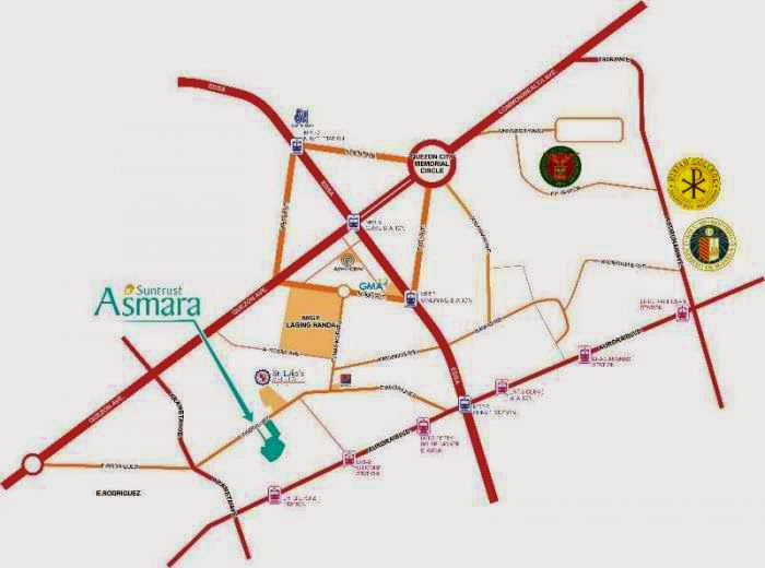 Asmara Condominium Site Map Location