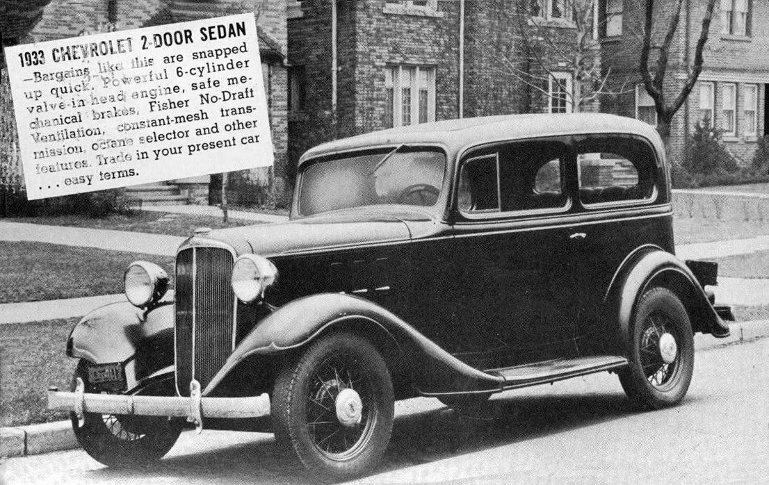 Transpress nz 1933 chevrolet 2 door sedan dealer card for 1933 chevy 2 door sedan
