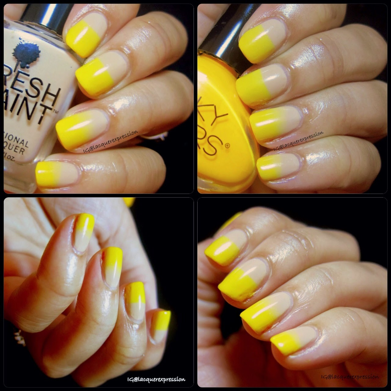Nail Art Yellow Nails For Instagrams 31 Day Challenge