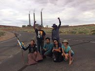 Dine' Walkers Walk Past Dirty Coal Power Plant on Navajoland