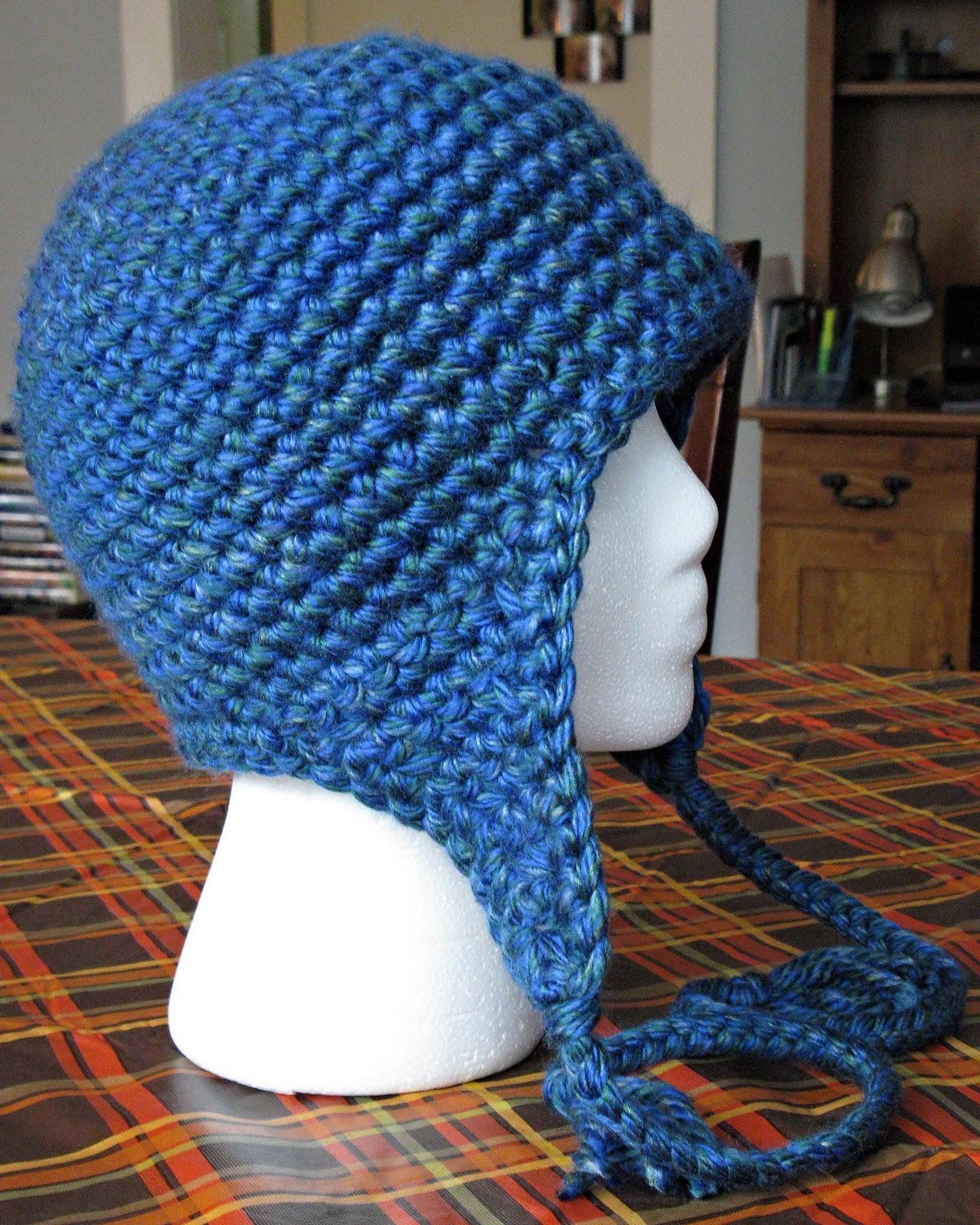 Free Crochet Basic Earflap Hat Pattern : Free Crochet Pattern Earflap Hat Dog Breeds Picture