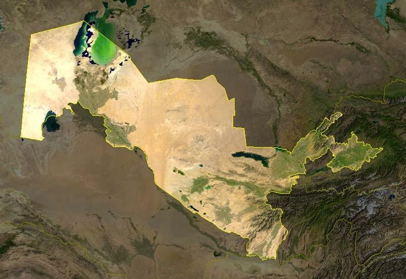 Wind Energy Atlas Of Uzbekistan REVE - Uzbekistan interactive map