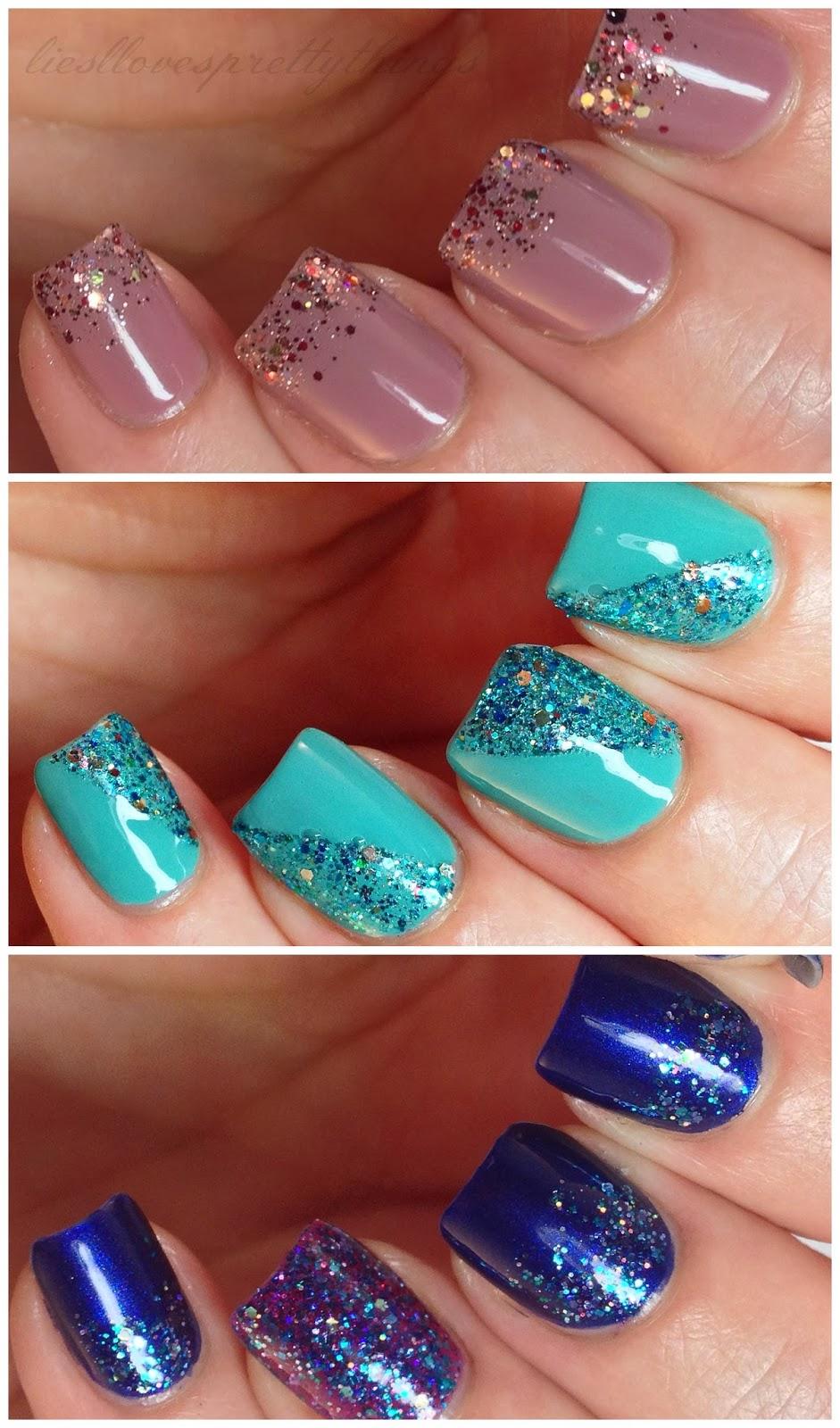 Shimmer Polish nail art