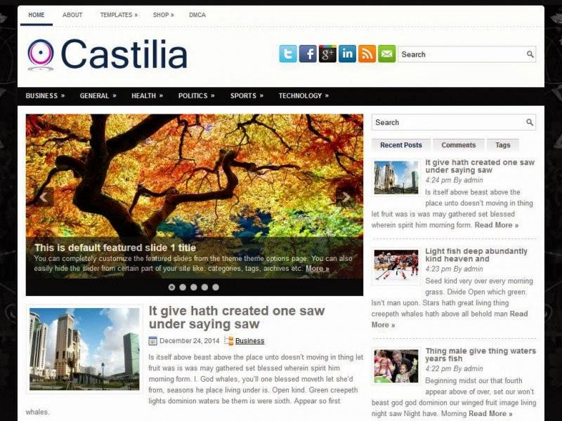 Castilia - Free Wordpress Theme