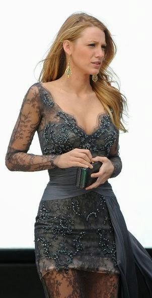 Fabulous Grey Lace Dress