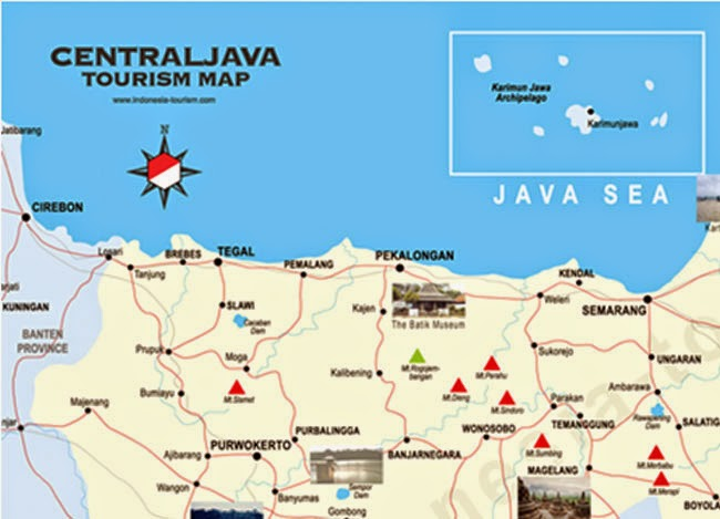 map central java