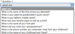 What is your father's middle name? your first pet? your best friend?