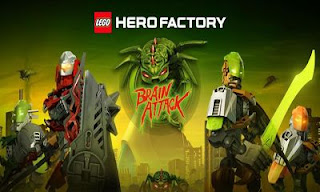 Screenshots of the Lego: Hero Factory Brain Attack for Android tablet, phone.