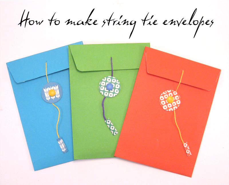 Craft Tutorial: How to make a string tie envelope ...