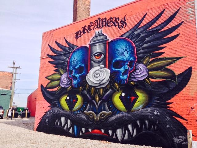Retro kimmer 39 s blog murals in the eastern market walking for Enjoy detroit mural