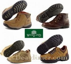 Woodland Footwear minimum 45% Cashback