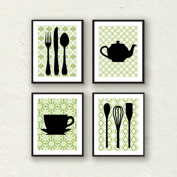 Ponderings nine nine you 39 re so fine treasury thanks for Kitchen wall art sets