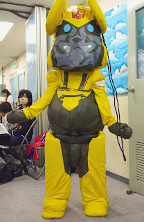 Transformers Bearbrick Bumblebee cosplay.