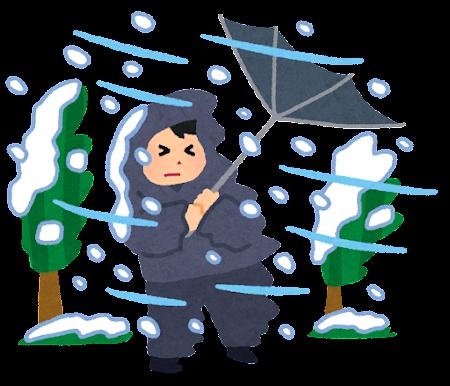 暴風雪のイラスト