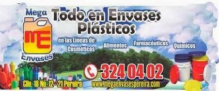 MEGA ENVASES PEREIRA, envases plásticos y de vidrio en pereira