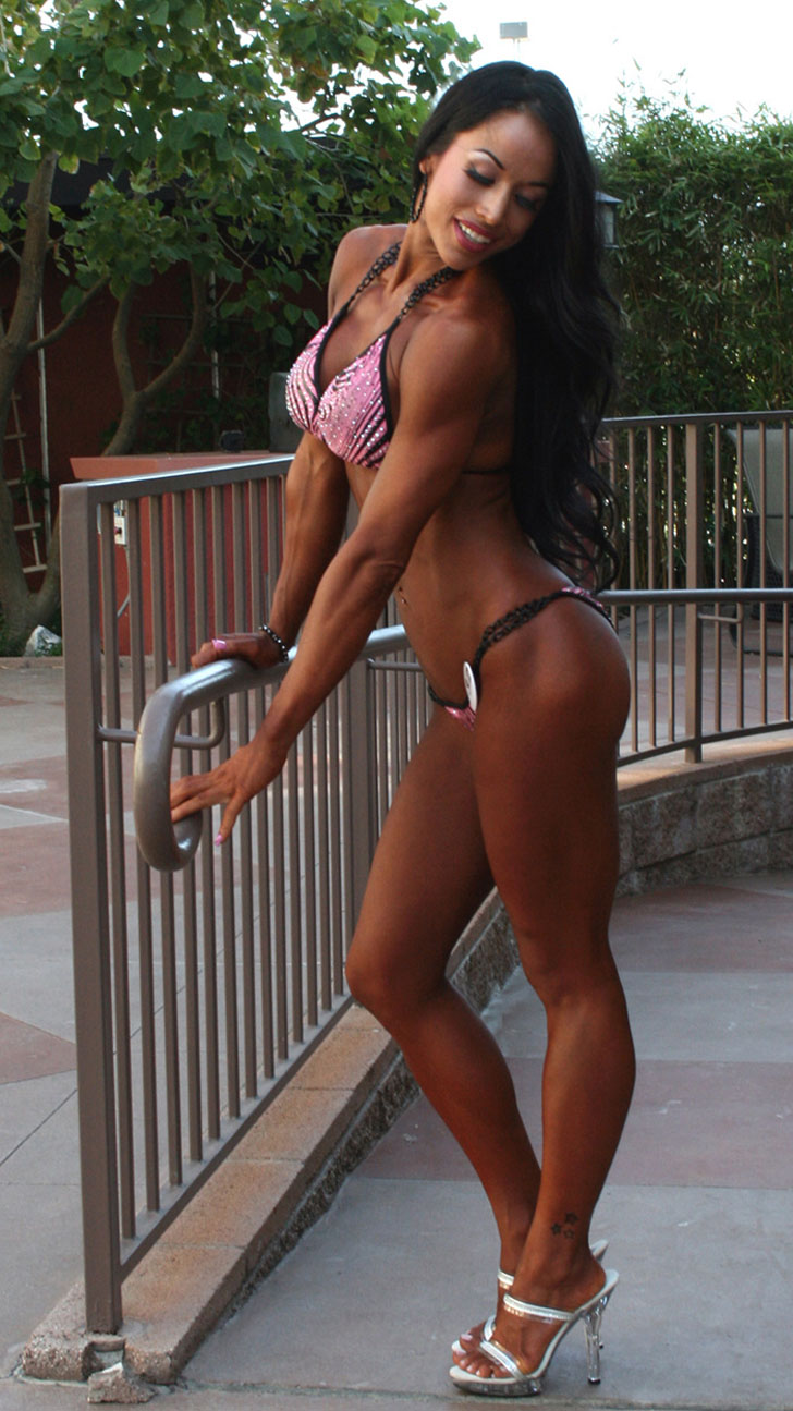 Janelle Tsao Modeling Her Great Legs And Fit Physique