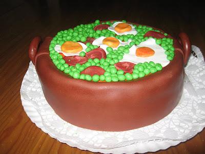 bolo tacho com ervilhas com ovos