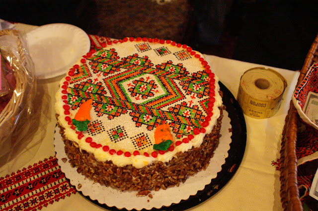 Ukrainian Embroidered Cake
